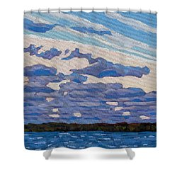Spring Stratocumulus Shower Curtain by Phil Chadwick