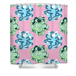 Spring Succulents- Art By Linda Woods Shower Curtain by Linda Woods