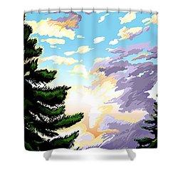Spring Sunrise 01 Shower Curtain