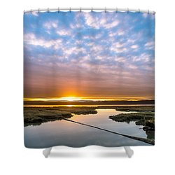 Spring Sunrise On Arcata Bay Shower Curtain