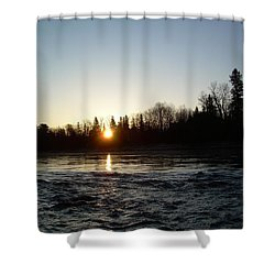 Shower Curtain featuring the photograph Spring Sunrise Over Mississippi River by Kent Lorentzen