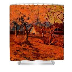 Spring Sunset Shower Curtain
