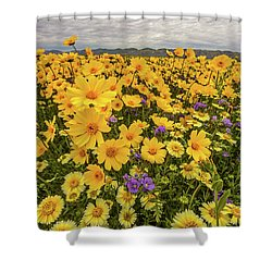 Shower Curtain featuring the photograph Spring Super Bloom by Peter Tellone