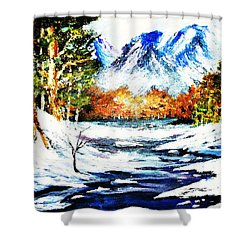 Spring Thaw Shower Curtain by Al Brown