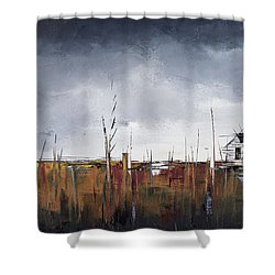 Spring Thaw Shower Curtain by Carolyn Doe