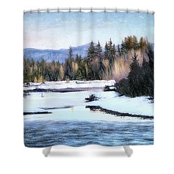 Tetons Spring Thaw Shower Curtain