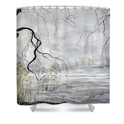 Spring Thaw On Misty Grenadier Pond Shower Curtain