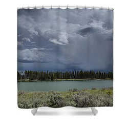 Spring Thunderstorm At Yellowstone Shower Curtain
