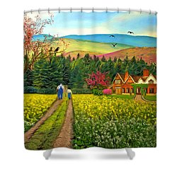 Spring Time In The Mountains Shower Curtain