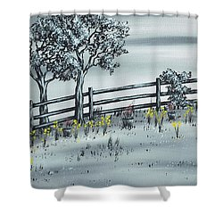 Spring Time Shower Curtain by Kenneth Clarke