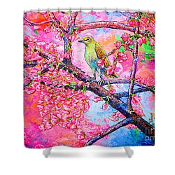 Spring Time Shower Curtain by Viktor Lazarev