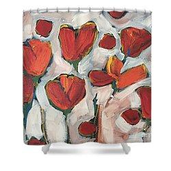 Spring Tulip Garden Shower Curtain