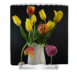 Spring Tulips In Vase Shower Curtain