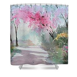 Spring Walk Shower Curtain by Yohana Knobloch