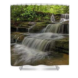 Spring Waterfall. Shower Curtain