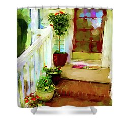 Spring Welcome Shower Curtain