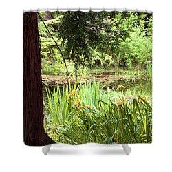 Spring Woodland Shower Curtain by Victoria Harrington