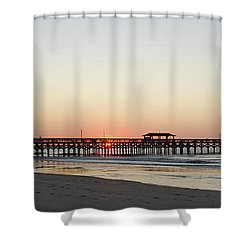 Springmaid Pier Sunrise Shower Curtain