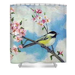 Shower Curtain featuring the painting Spring's Promise by Donna Tucker