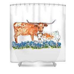 Springs Surprise Watercolor Painting By Kmcelwaine Shower Curtain by Kathleen McElwaine