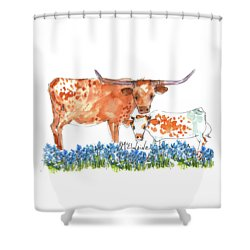 Springs Surprise Watercolor Painting By Kmcelwaine Shower Curtain