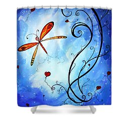 Springs Sweet Song Original Madart Painting Shower Curtain by Megan Duncanson
