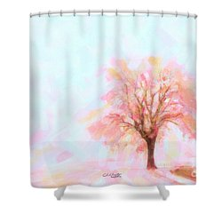 Shower Curtain featuring the painting Springtime by Chris Armytage