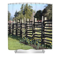Springtime In Anderson Valley Shower Curtain