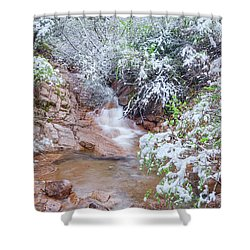 Springtime In The Colorado Rockies Implies Heavy, Slushy Snow, And Lots Of It. Shower Curtain