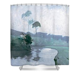 Shower Curtain featuring the painting Springtime by John Henry Twachtman