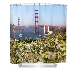 Shower Curtain featuring the photograph Springtime On The Bay by Everet Regal