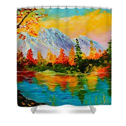 Springtime Reflections Shower Curtain