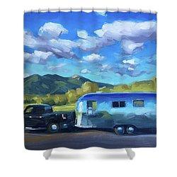Springtime Road Trip To Taos Shower Curtain