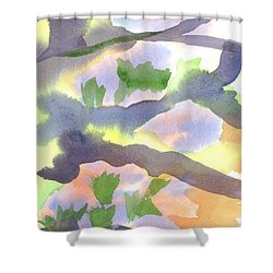 Shower Curtain featuring the painting Springtime Wildflower Camouflage  by Kip DeVore