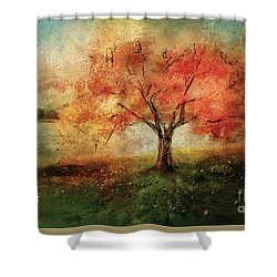 Sprinkled With Spring Shower Curtain by Lois Bryan