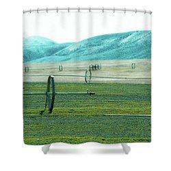 Sprinkler - Eastern Wa Shower Curtain