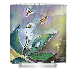 Sprint Fever Watercolor And Ink Shower Curtain