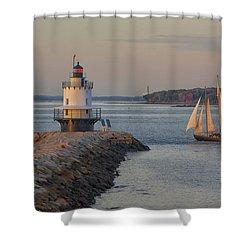 Sprint Point Ledge Sails Shower Curtain