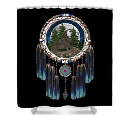 Sprit Of The Wolf Shower Curtain
