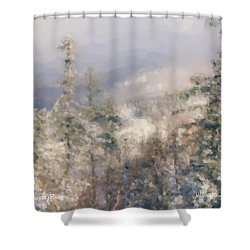 Spruce Peak Summit At Sunday River Shower Curtain