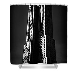 Shower Curtain featuring the photograph Spruce Street By Gehry by Jessica Jenney