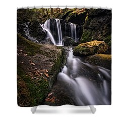 Sprucebrook Falls In Beacon Falls, Ct Shower Curtain