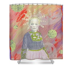Shower Curtain featuring the mixed media Spunky Got Funky by Desiree Paquette