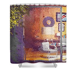 Spying Your Room Shower Curtain by Andrea Barbieri