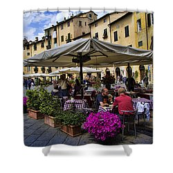 Square Amphitheater In Lucca Italy Shower Curtain