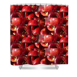 Square Apples Shower Curtain