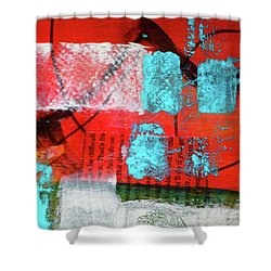 Square Collage No. 10 Shower Curtain by Nancy Merkle