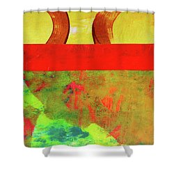 Square Collage No. 11 Shower Curtain by Nancy Merkle