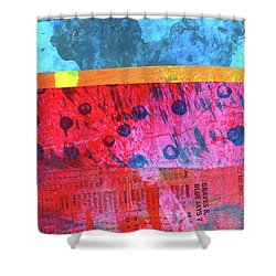 Square Collage No. 12 Shower Curtain by Nancy Merkle