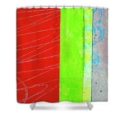Square Collage No. 5 Shower Curtain by Nancy Merkle